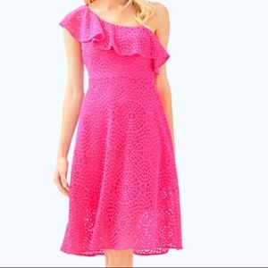 NWT Lilly Pulitzer Callisto Dress Pink Cosmo